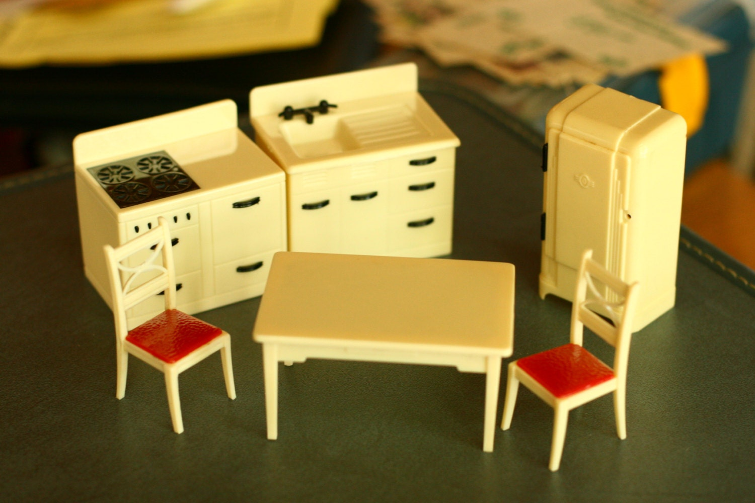 FINAL SALE Vintage Dollhouse Furniture by vintageatmosphere