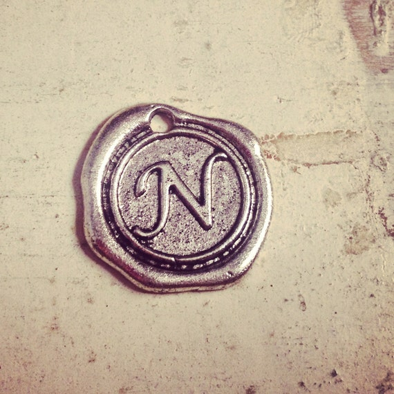 Items similar to 1 letter n wax seal stamp charm initial for Letter seal stamp