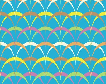Andover Fabrics - Frippery - Scallop Deco - Turquoise - Novelty Fabric