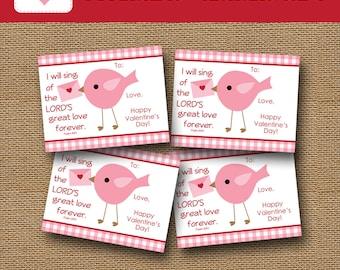 girls valentine card bird valentine diy printable christian scripture verse classroom valentine
