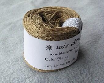 Beige 10/2 Mercerized Cotton
