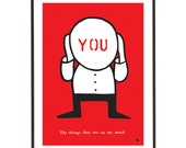 Pop art poster print - You are always on my mind - A3