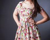 """Yellow Polka Dot """"Cassie Dress"""" Custom listing for Carrie"""