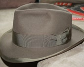 Vintage Fedora from a Very Rare Collection Lee black label 7 1/2 whippet style 1940's 1950s Stetson whippit
