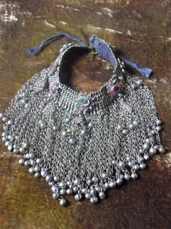 ON SALE Kuchi Bellydance neckpiece from Afghanistan