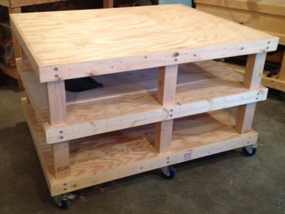 Items similar to Woodworking Plans - Mobile Workbench on Etsy