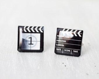 Men cufflinks - Movie cufflinks - Clapper Board - Cuff links for men