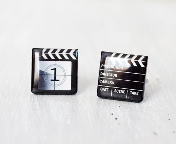 Men cufflinks - Movie cufflinks - Clapper Board - Cuff links for men