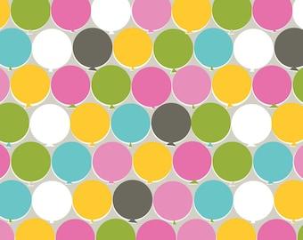 Bailey Circus - Ballyhoo Baloons in Pink - 101.106.02.1 - Maude Asbury for Blend Fabrics - 1/2 Yard