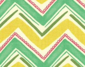 Keep it Cool Chevron in Goldenrod 7174-12 - Spring House by Moda Fabrics - 1/2 Yard