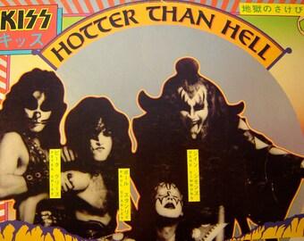 Kiss - Hotter Than Hell LP - 1974 - Casablanca NBLP 7006 - Vintage Vinyl LP Record Album
