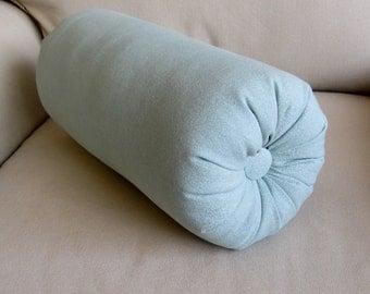 spa blue bolster pillow 14 x 6