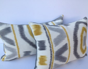 Thom Filicia for Kravet-Ikat 13X17 (fits 14X20 Pillow Insert) Pillow Cover Designer Home Decor Fabric-Throw Pillow-Accent Pillow