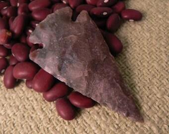 1 Primitive  Stone Arrowhead 2 1/4 h x 1 1/4 h inches (no.2)