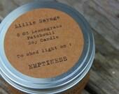 Emptiness - Lemongrass/Patchouli  Soy Candle - 8 OZ