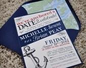 Nautical Wedding Invitation Set - DIY YOU PRINT