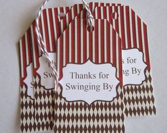 8 Sock Monkey Thank You Gift Tags