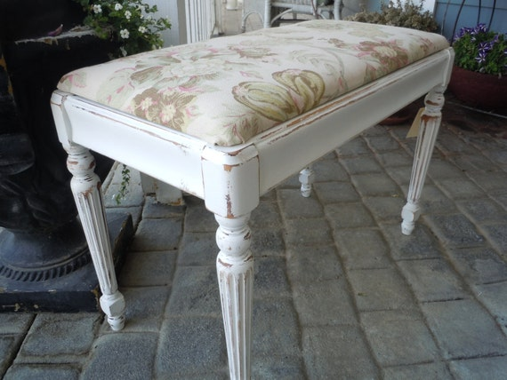 Piano Bench Seat In Shabby Chic French Country Style With