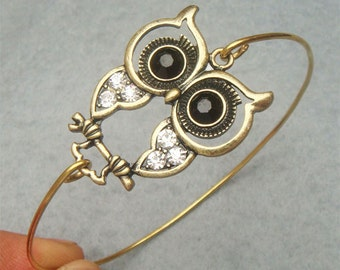 Owl Bangle Bracelet Style 10