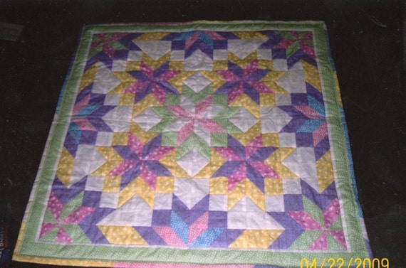 Quilt Patterns With Y Seams : Baby Starburst Quilt Pattern Intermediate Half-Inch Seams