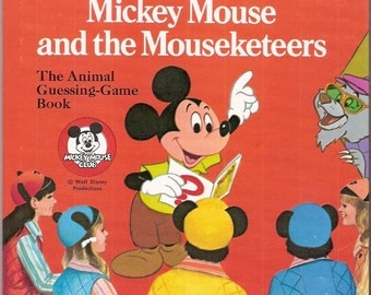 Walt Disney's Mickey Mouse and the Mouseketeers Vintage Whitman Tell A Tale Book Illustrated