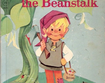 Jack and the Beanstalk Vintage Rand McNally Elf Book Illustrated by Anne Sellers Leaf 1962