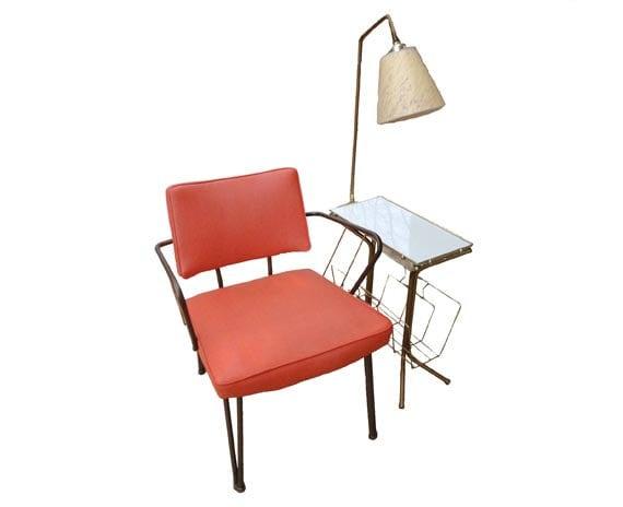 lamp table magazine rack mid century floor lamp telephone end. Black Bedroom Furniture Sets. Home Design Ideas