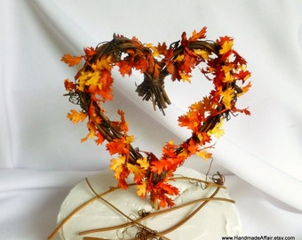 Rustic Cake Topper, Fall Wedding Decorations