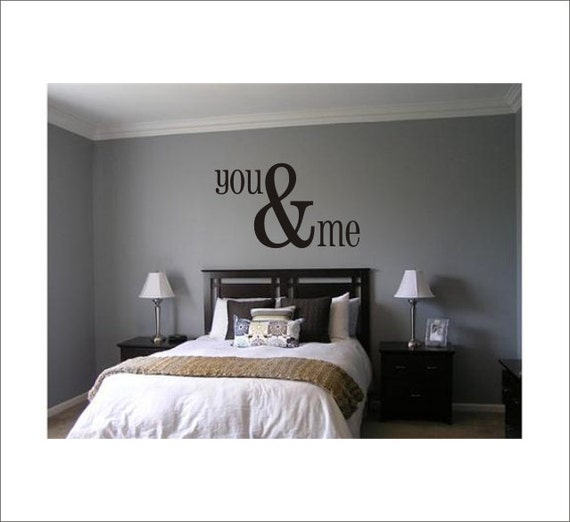 You & Me Large Vinyl Wall Decal Housewares Home Decor Master