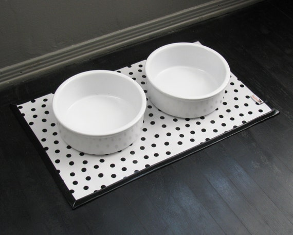 Dalmation Print Water proof Pet Placemat