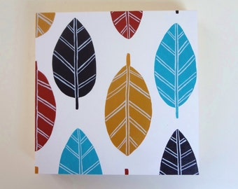 Leaf Pattern- Scandinavian Inspired Original Painting