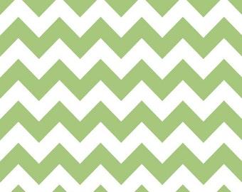 SALE | Green Chevron Fabric (Medium) by Riley Blake - 1/2 Yard