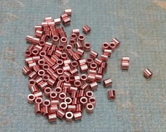 2 x 2 mm Crimp Beads Solid Copper Beads. Made in the USA.