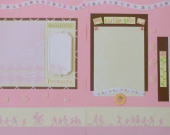 Little Girl 12X12 Premade Scrapboook Pages