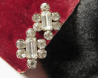 1980s Rhinestone Earrings SALE
