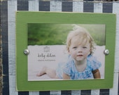 Distressed 5x7 Picture Frame, Chunky Frame, Striped Picture Frame, Preppy Frame
