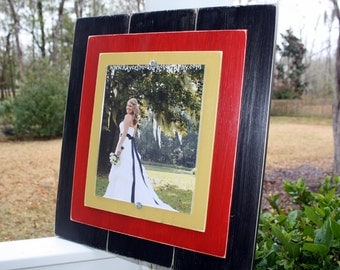 Distressed Frame, 8x10 Picture Frame, Rustic Frames, Black Picture Frame