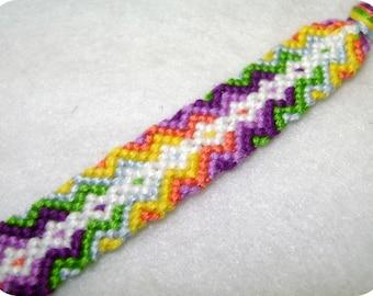 Friendship Bracelet - Arrowhead & Diamonds- Made to Order