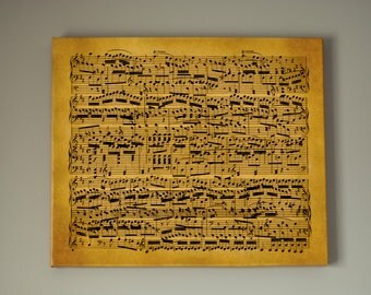 Large Musical Notes in Disarray, Ready to Hang - Large Gallery Wrap Canvas, Three colors and sizes to choose, FREE SHIPPING USA!