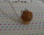 SALE Chocolate Cupcake charm 3 D Necklace