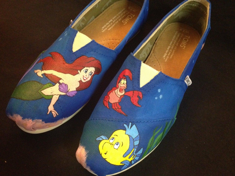Custom Hand Painted Shoes Little Mermaid Toms