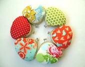 Bridesmaid Gift Set - Group Gift, Party Gift - 6 Small Clutches / Coin Purses - Red, Green, Blue