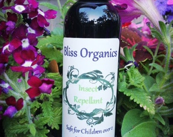 Bliss Organic Insect Repellant Safe for Dogs Cats Small Children Gardening Beach