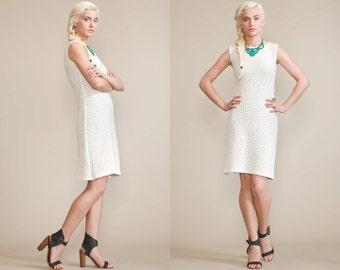 Vintage CROCHET OPEN WEAVE Minimalist 60s Dress /