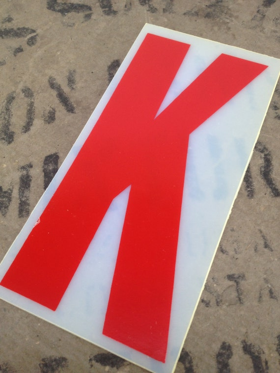 Red plastic letter k flexible letter red by avintageparcel for Small plastic letters for signs