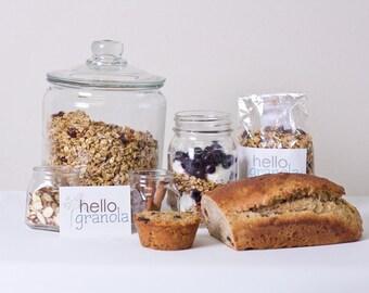 Hello Granola's handmade Granola Bread and (4) Peanut Butter Granola Bites:breakfast, snacks, healthy food