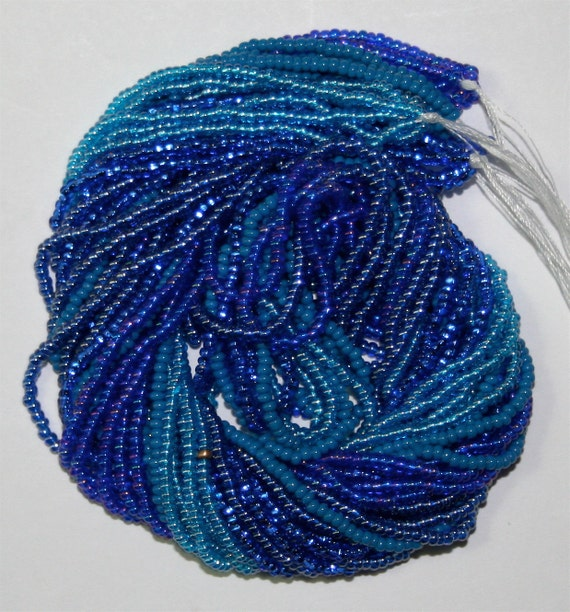 SALE Czech Glass Seed Beads Wholesale Mixed Lot 11/0 Mixed Blue Silver Lined Aurora Borealis Opaque Luster 5,000 /50 Grams