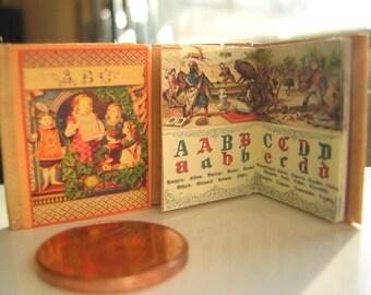 Antikes ABC Miniature Book 1inch