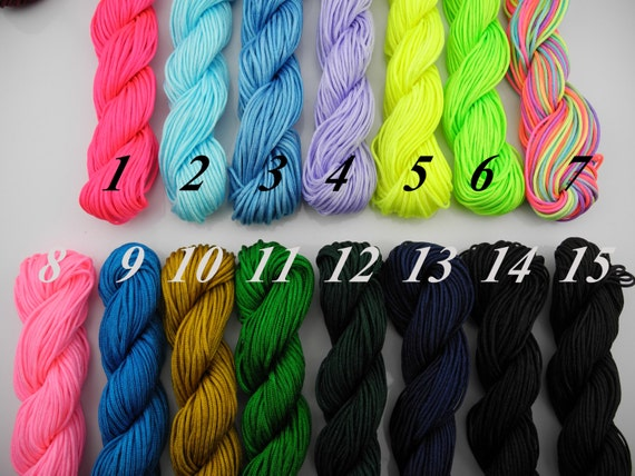 33 Optional  Colors 28Yards 1.0mm Chinese Knotting/Beading Nylon Silk Cord/Thread Best for Chinese Knots