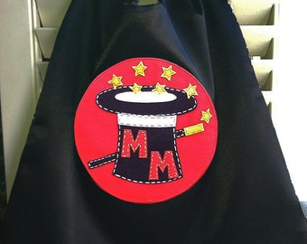 Superhero Cape-PERSONALIZE/CUSTOMIZE Magician Superhero Cape - Choose the Initial- Magician Costume Birthday Party